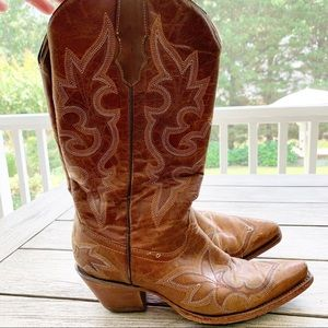 Corral Francy Stitched Western Square Tip …